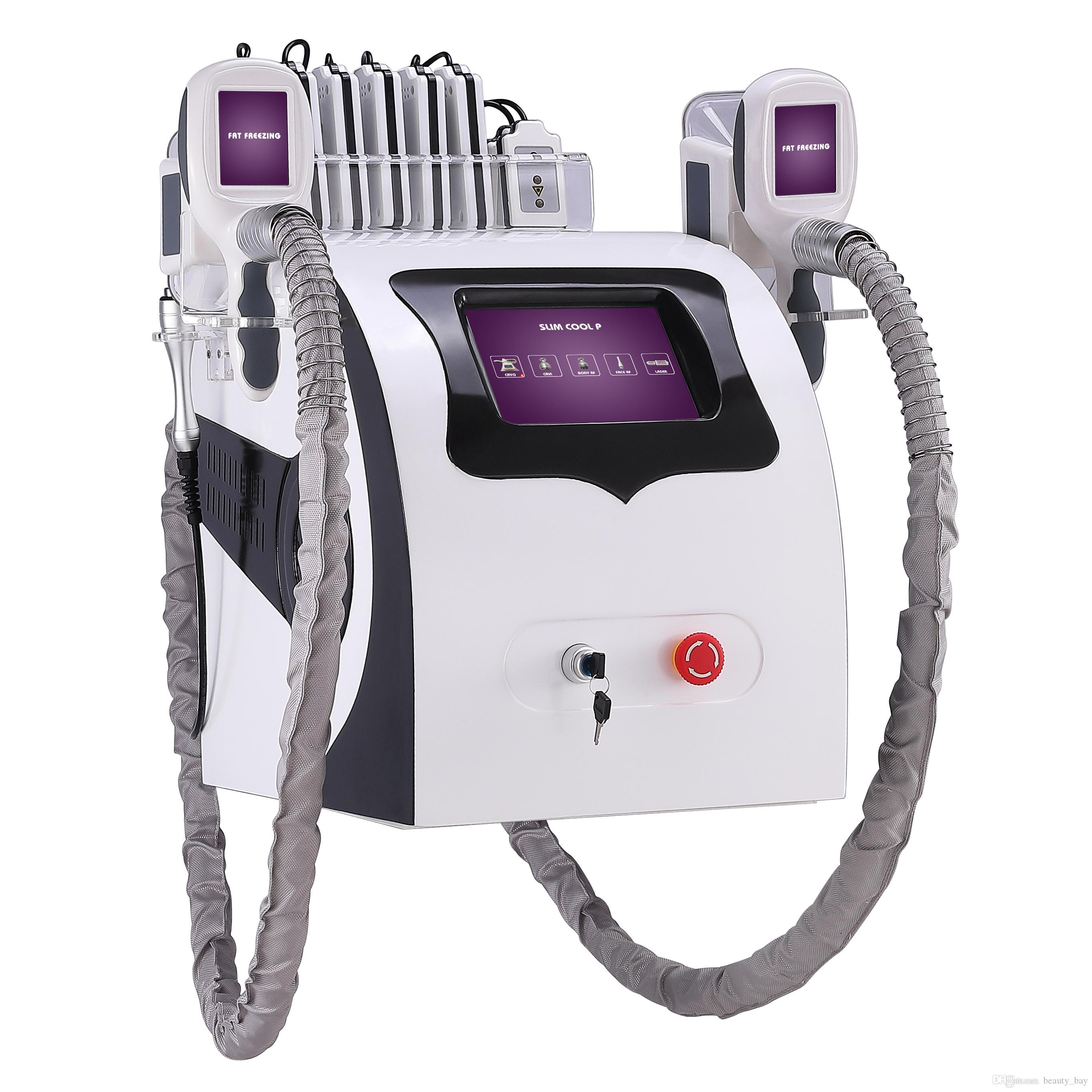 Cryolipolysis 지방 냉동 슬리밍 기계 CE 2 Cryo RF Cavitation Lipo 레이저 5 in 1 Weight Loss Beauty Equipment