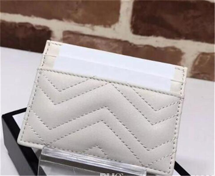 Top Qualität Karteninhaber Luxus Karteninhaber Schwarz Rindsleder Brieftaschen Münze Geldbörse Tasche Interieur Schlitz Tasche Echtes Leder Kamelie