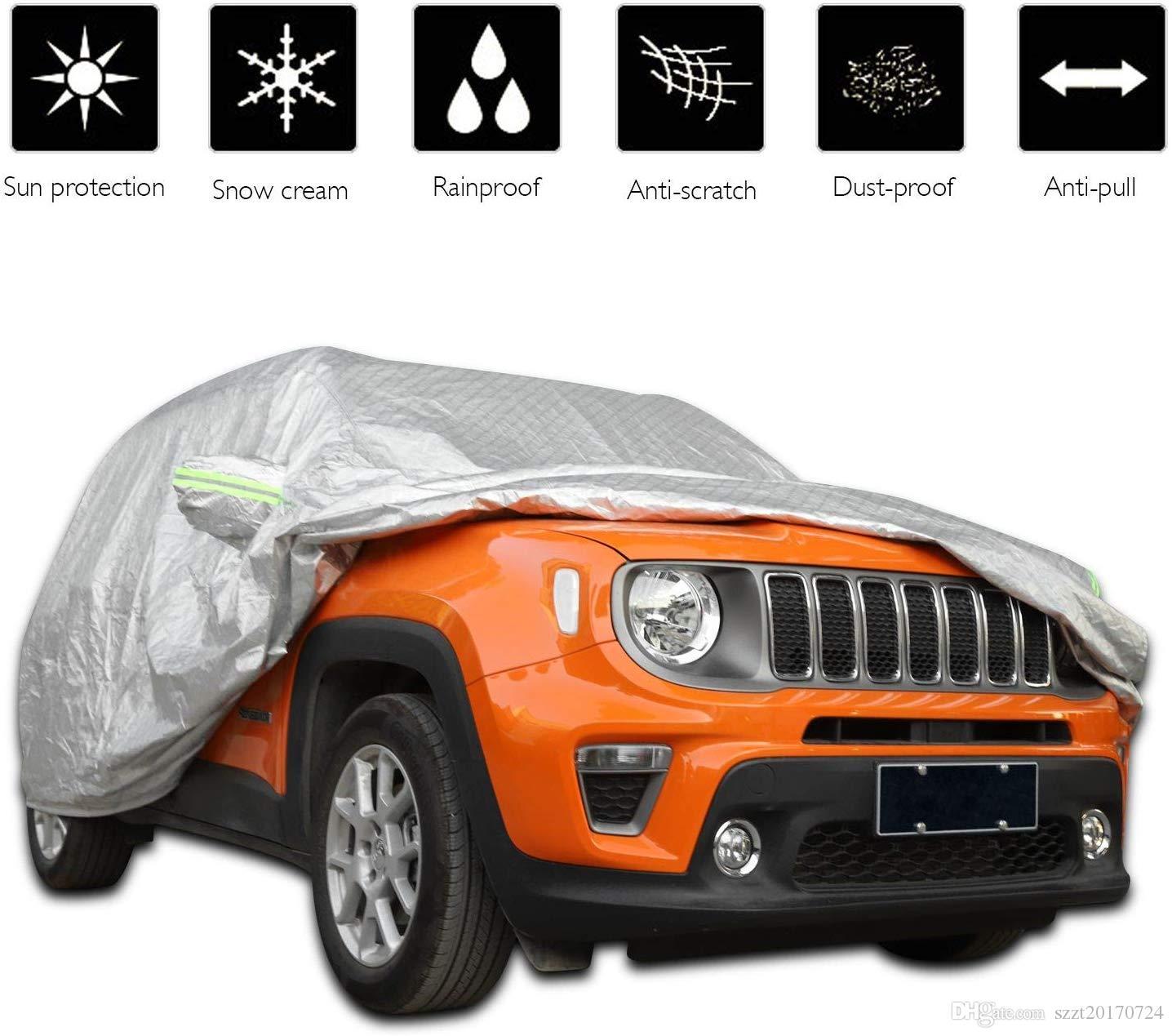 Car Cover Tous imperméable Météo, Full Car Covers coupe-vent / Snowproof / Protection UV / anti-poussière pour Jeep Renegade 2015+