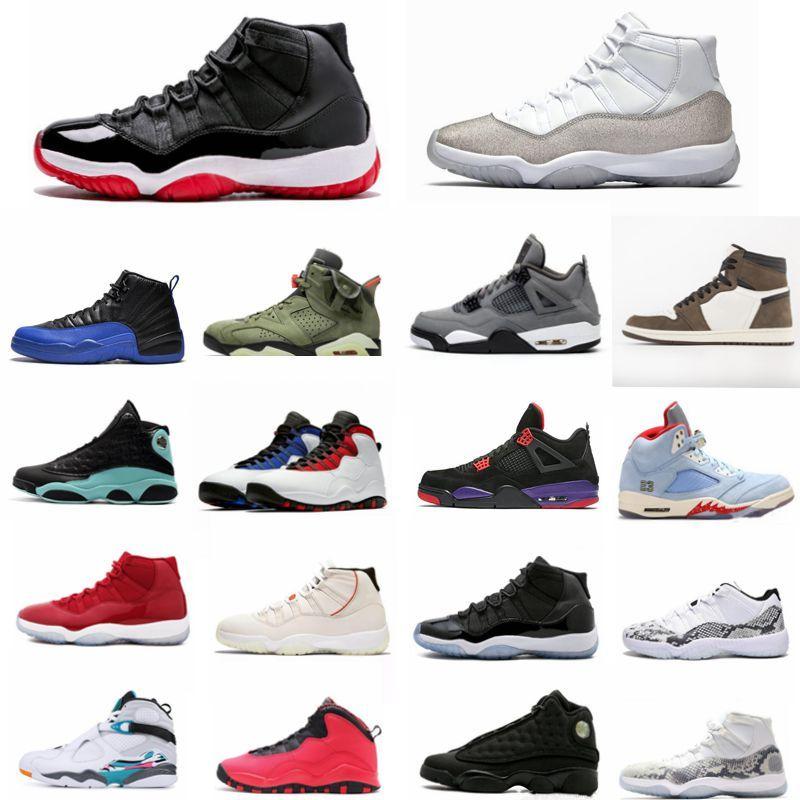 Mit Box 1 11 12 13 Bred Space Jam 45 neue Concord Basketball-Schuhe Männer Frauen Schuhe Rot Marine Gamma Blau-Turnschuhe