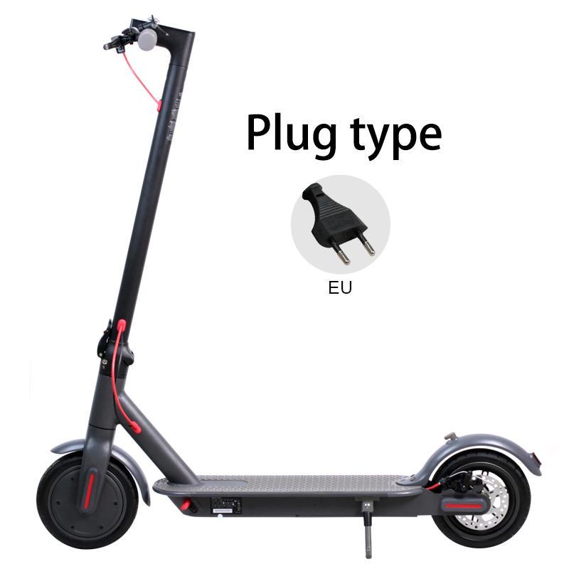 Almanya Depo Nakliye 8.5 inç alüminyum alaşım hava lastiği elektrikli scooter 36V 250W güç 6.6Ah Hamur yetişkin Akıllı Scooter
