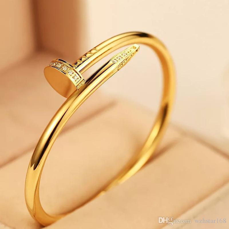 Bracciale Donne 2020 nuovo progettista monili di lusso tipo di nuove catene in oro rosa Uomini Donne Diamante Bracciali Iced Out gioielli uomini bracciali