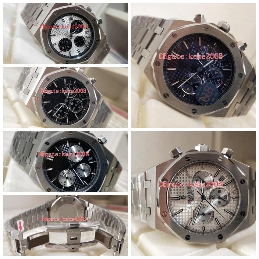 5 cores pulso Top Quality N8 Versão 42 milímetros Offshore 26320 26320ST.OO.1220ST.01 02 03 VK Quartz Trabalho Cronógrafo Mens Watch Relógios