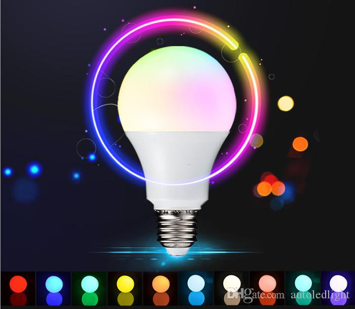 E27 RGB LED Lamp 10W 5W 3W LED RGB Bulb Light Lamp 110V 220V Remote Control 16 Color Change Lampada LED Global Light