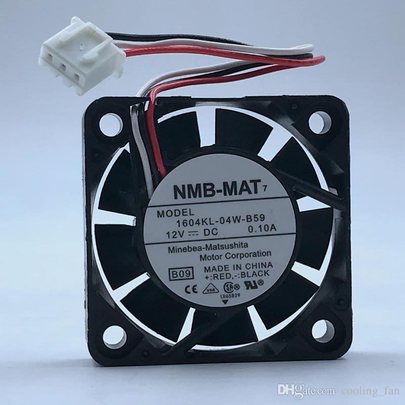 1 PCS NMB Fan 1604KL-04W-B59 4010 4CM DC 12V 0.1A 3 pin 40*40*10mm