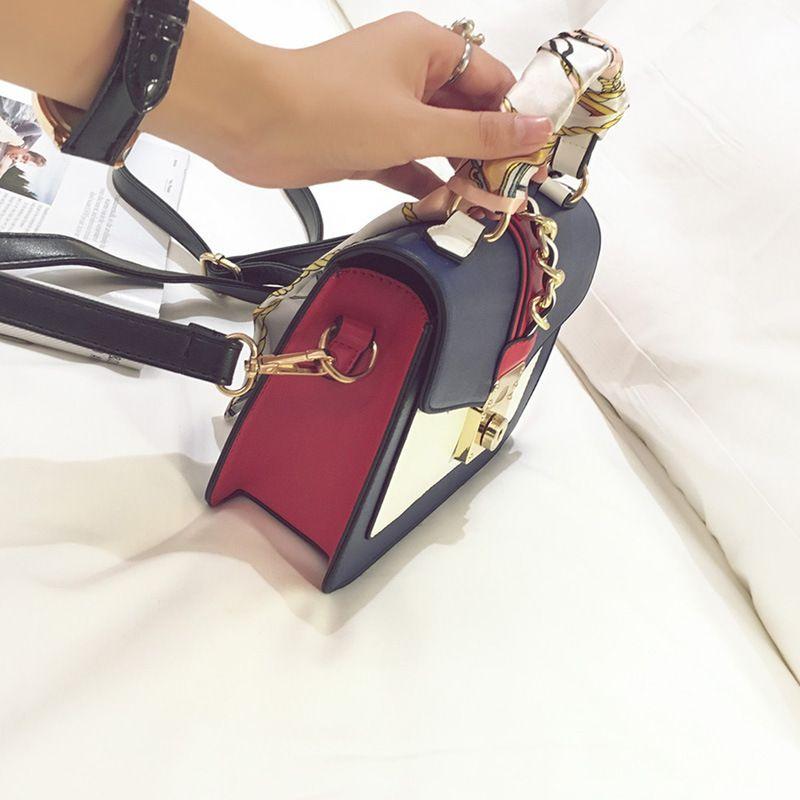 New Color HAN плечо поднять замок лоскут маленький квадратный мода один издание его джокер сумка оптом шарфы бум Xctai