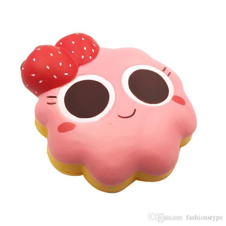 زهرة كعكة اسفنجي لعب جامبو بطيئة ارتفاع ناعم المعتاد ضغط الهاتف لعب قلادة مكافحة الإجهاد كيد الكرتون لعبة الضغط لعبة