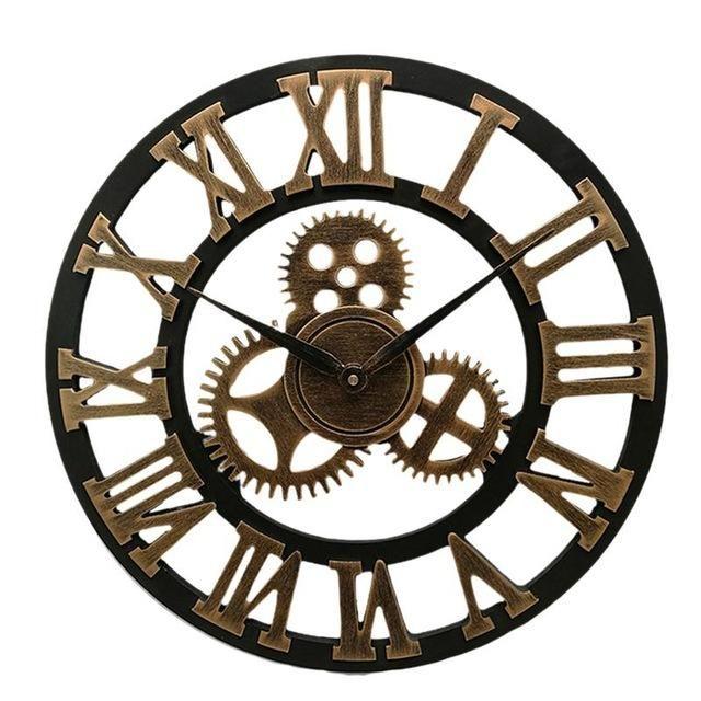 산업 기어 벽 시계 장식 레트로 MDL 벽 시계 산업 시대 스타일 룸 장식 벽 아트 장식