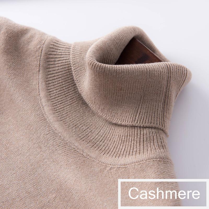 2019 осень зима кашемир свитер женский пуловер с высоким воротником свитер женщин сплошной цвет леди основной свитер LY191217
