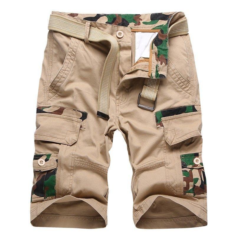 Luulla Hommes Marque D'Été Coton Poches Militaire Safari Style Shorts Hommes Mode Casual Plage Conseil Camouflage Shorts Bas Hommes T200422