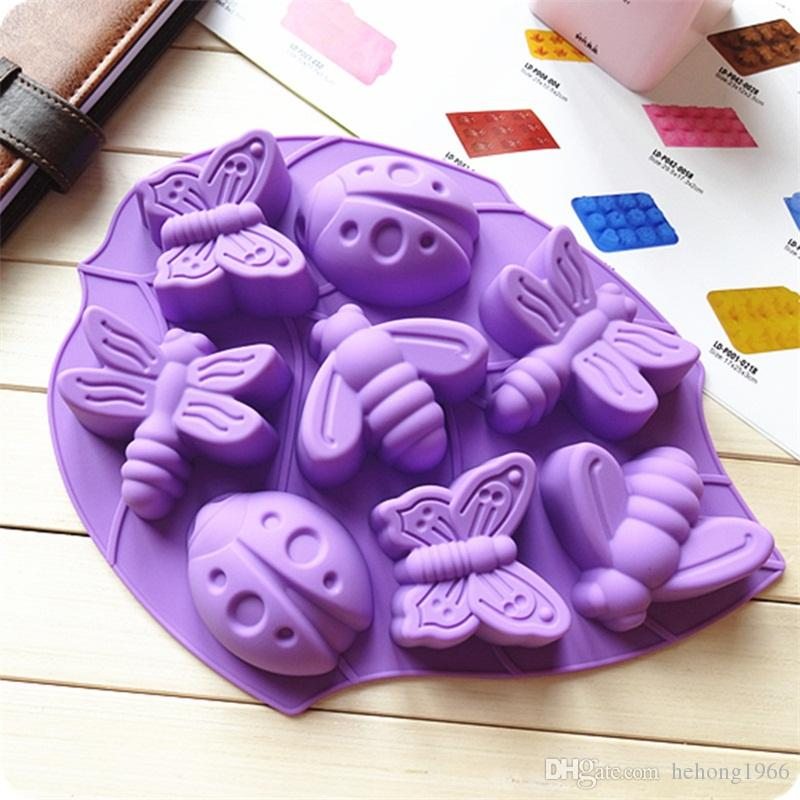 Creative Insect Shaped Cake Mold 8 Lattices Silicone Pudding Jelly Mould Handmade Soap Moulds For Home Kitchen Tools 6 2xn E1
