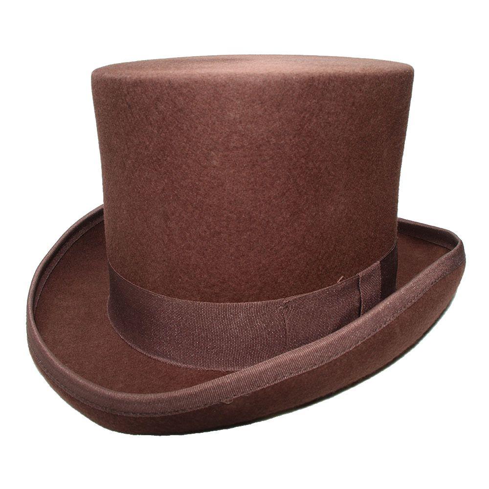 Black Steampunk Victorian Formal Dome Hat Wool Felt Vintage Magician Fedoras Bowler Hat