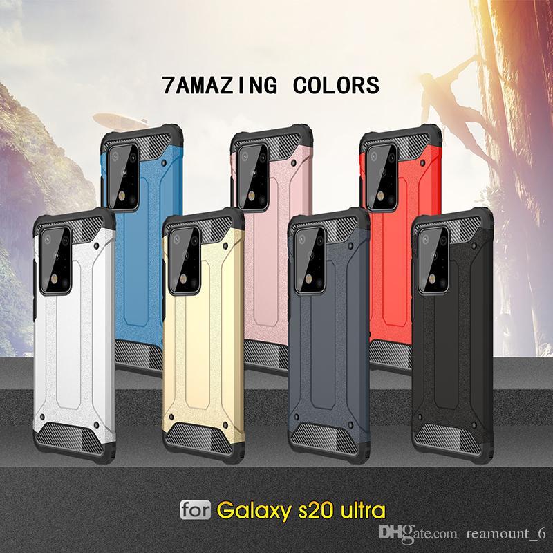 Doppia protezione ibrida TPU + PC 2 in 1 copertura di caso duro Armatura Robot Heavy antiurto per Samsung S20 S20 S20 Inoltre Ultra
