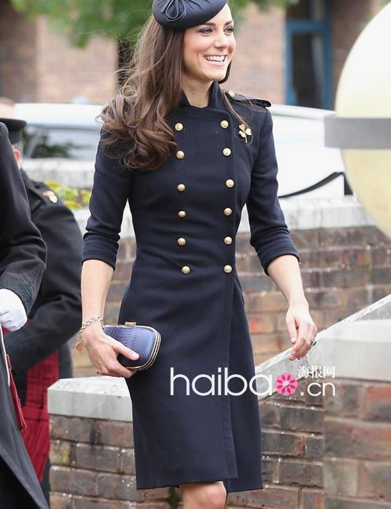 2018 Cappotto in lana da donna di design nuovo Kate Middleton Cappotto a manica lunga doppio petto J019