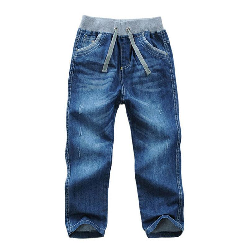 Kids Boys Jeans Pants Cotton Children Full Denim Pants Kid Clothing Spring Autumn Boys Casual Trousers For 2-11 Years Dq294 Y19051504