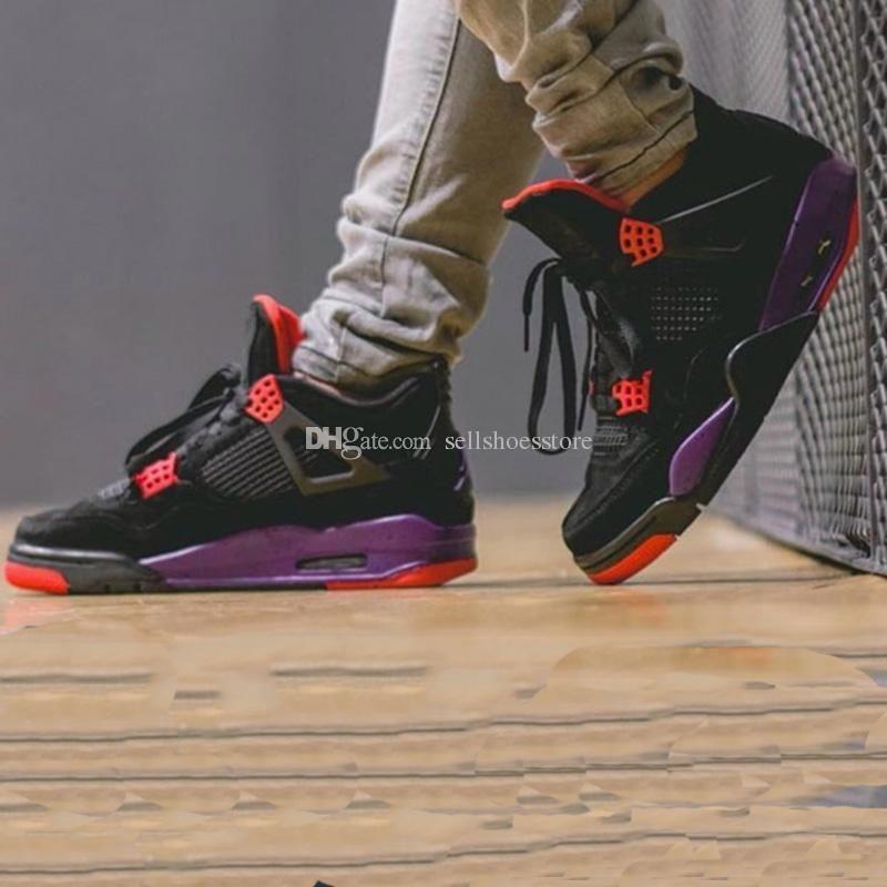Mais recente NRG 4 4S tênis de basquete Mans altura crescente resistente ao desgaste Shoes Raptors exterior sapatilhas por atacado com caixa original