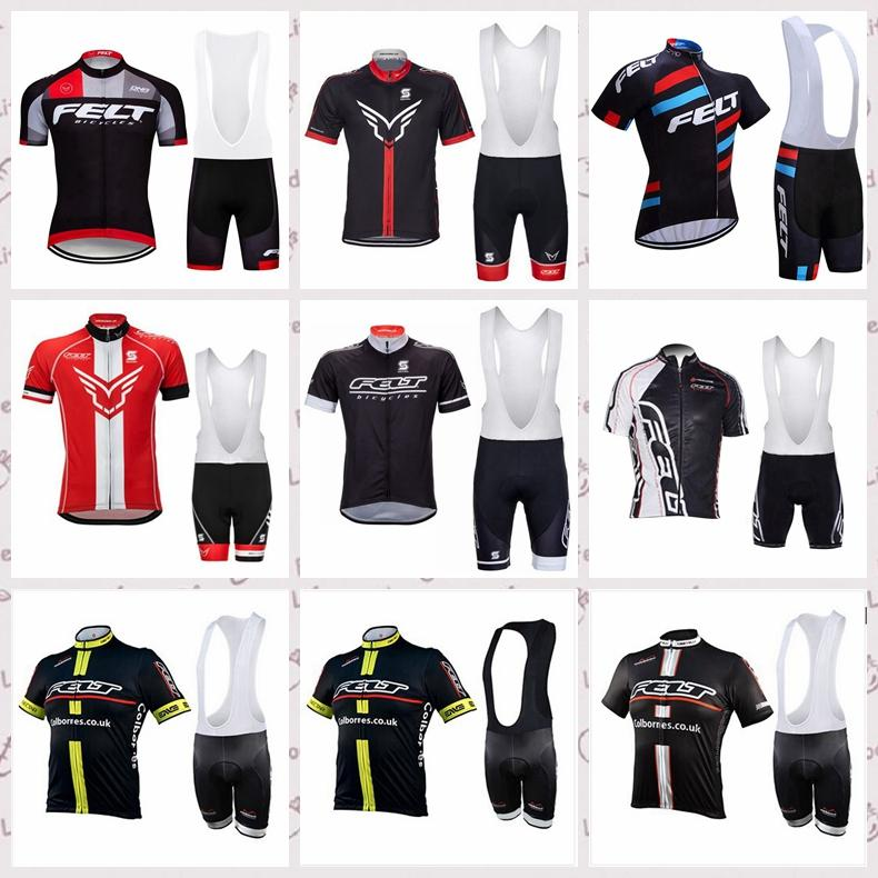 squadra Felt corte ciclismo pantaloncini corti in jersey bretelle 2020 bici che coprono insieme Rapidamente asciutto Uomini di usura della bicicletta Suit C618-21