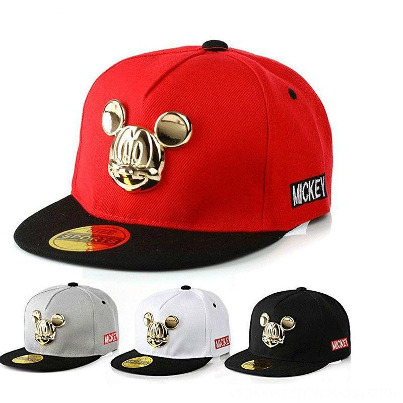 2019 Spring Summer Gorras 100cotton Pu Leather Baseball Cap Childrens Baby Hiphop Hat Boys Girls Snapback CartoonCaps Hats & Caps Ha