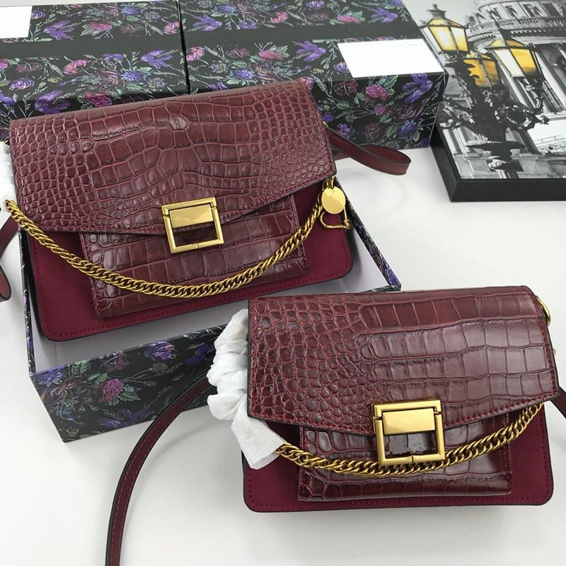luxury designer lady's flap Alligator bags with belt fashionable one shoulder totes bags genuine real leather belt bags
