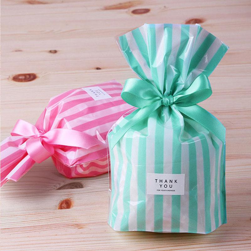 10шт конфеты цветная полоса восковое покрытие, упаковка мешок, бисквитные мешки, конфеты подарок мыло упаковка свадебные украшения поставки