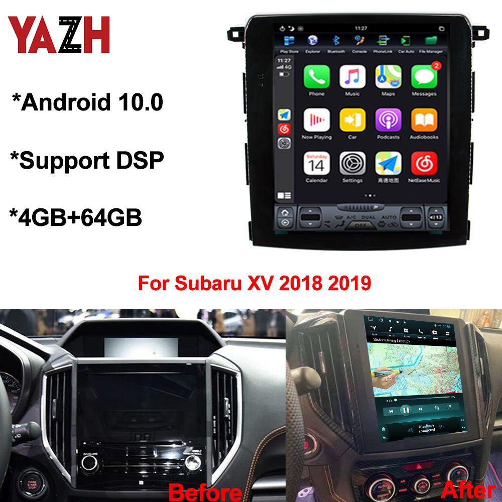 안드로이드 스바루 XV / Crosstrek / 포레스터 2018 2019 멀티미디어 GPS 네비게이션 RAM 4기가바이트 + 64기가바이트 DSP CAR DVD 헤드 유닛 10.0 자동 라디오
