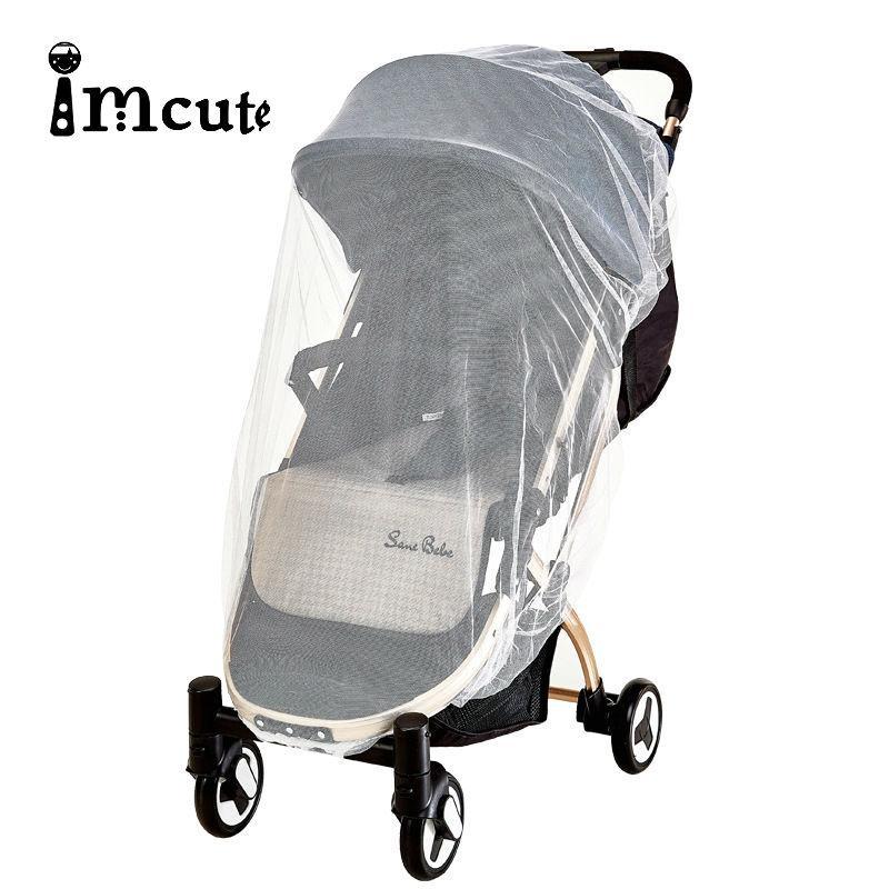 İmcute 2020 Bebek Arabası Cibinlik Nakış Tam Kapak Bebek Arabası toz geçirmez Sivrisinek Perde Kapak 70X55cm
