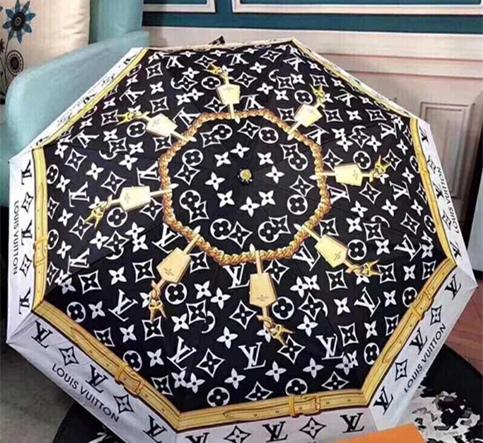 브랜드 디자인 편지 우산 여성 남성 보장 클래식 Prited 동백 우산 3 배 럭셔리 로고 우산 방풍 선물 상자