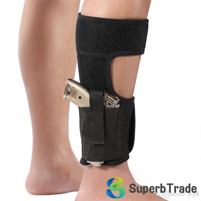 Vendita calda! Nascosto universale tattico Carry regolabile alla caviglia Leg Pistola Fondina all'aperto Abbigliamento imbottite Strap Sacchetti Gun