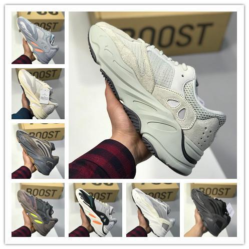 [Com caixa] 2019 Designer de sapatos homem sal Kanye 700 V2 Vanta verdadeira BASF fundo sapatas running 3M reflector 700 da mulher do instrutor das sapatilhas c29