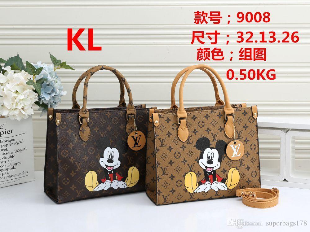 KL 9008 Mejor alta calidad del precio de las mujeres solas señoras de totalizador del bolso del morral del hombro del bolso del monedero