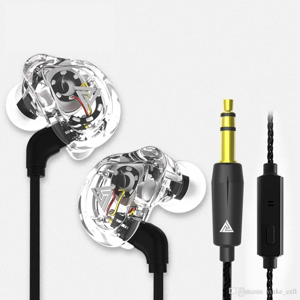 3.5mm In-ear Earphone Wired Headphone with Microphone Running Sport Headset Noise Cancelling Earbuds For iPhone Samsung HTC MP3