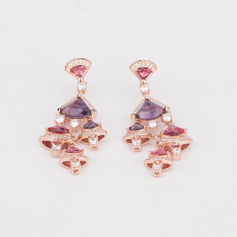 2020 ciondolano modo delle donne di lusso casual fascino Orecchini Rosa delle ragazze orecchini belle gioielli regalo di nozze del partito