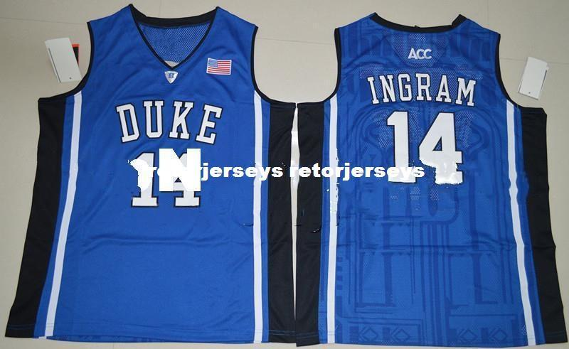 the latest d0d78 88d5f 2019 Brandon Ingram 14 Duke Blue Devils Retro College Top Basketball  Jerseys Chino Hills Huskies High School Shirts For Men Emb XS 2XL Vest  Jerse From ...