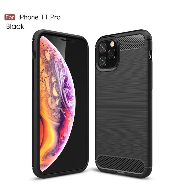 In fibra di carbonio per l'iPhone 11 Pro Max XR Xs Max 6 7 8 6S Plus 5 5S SE TPU gomma telefono per Samsung Note 10 9 8 S10 S10e S8 Inoltre S9