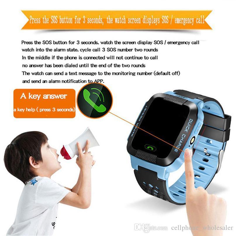 Y21 дети GPS смарт-часы анти-потерянный фонарик смарт-наручные часы SOS Call Location Device Tracker Kid Safe браслет для Android iPhone iOS