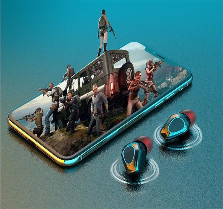 X18S Tws sans fil Bluetooth 5.0 Oreillettes X18 casque écouteurs mains libres Sport Casques d'écoute pour Smartphone Pk A6 T18S I12 # OU211