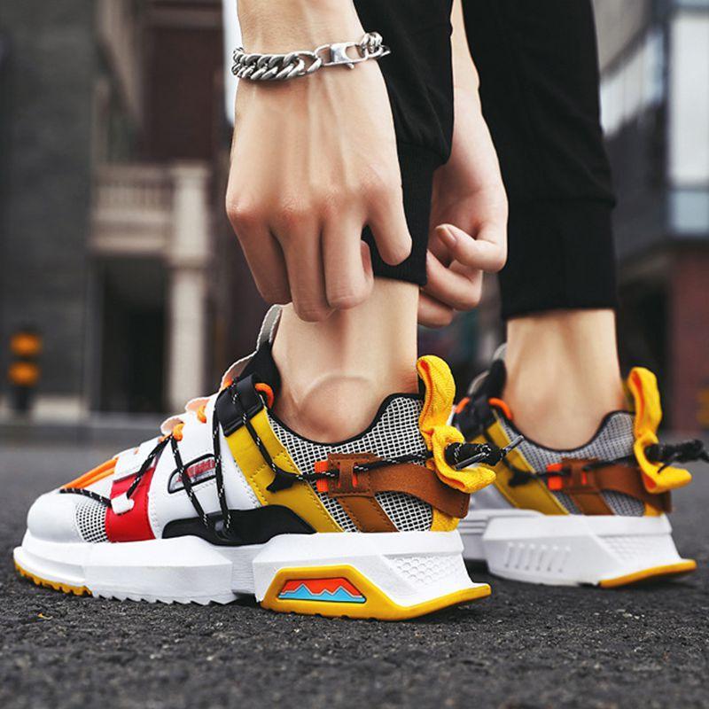 Novos Sapatos Homens Sneakers moda de alta qualidade Primavera projeto queda Homens calçados casuais macho adulto Sapatilhas Soulier Homme Trainers