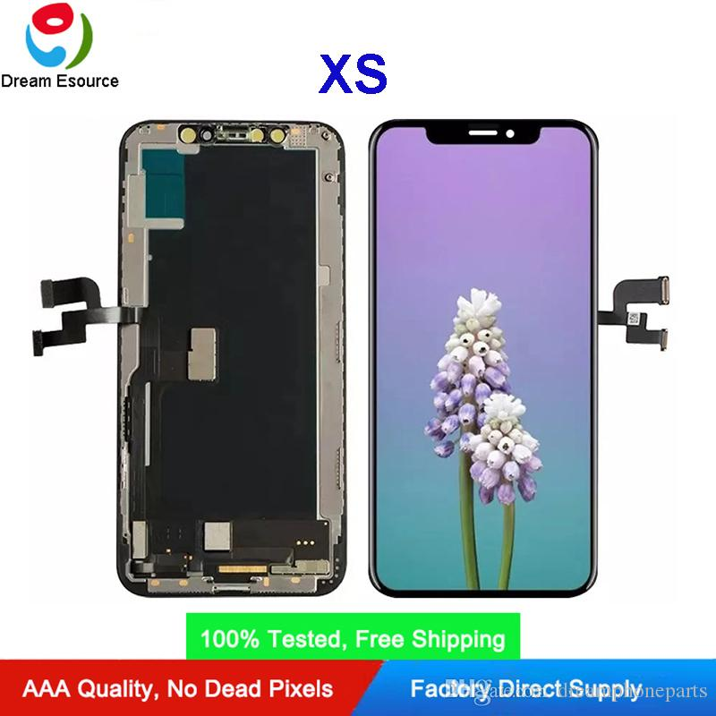 عالية الجودة OLED / شاشة LCD لفون XS الصلب OLED INCELL TFT مزدوجة COF عرض التكنولوجيا الجمعية الكمال اللمس دي إتش إل الحرة الشحن