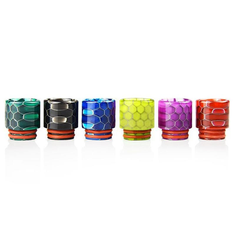 Nice Colorful Honeycomb 810 Resin Drip Tip Wide Bore Mouthpiece Mouth Fit Goon 528 Kennedy 24 Battle Apocalypse Pyro TFV8 TFV12 Prince Tank