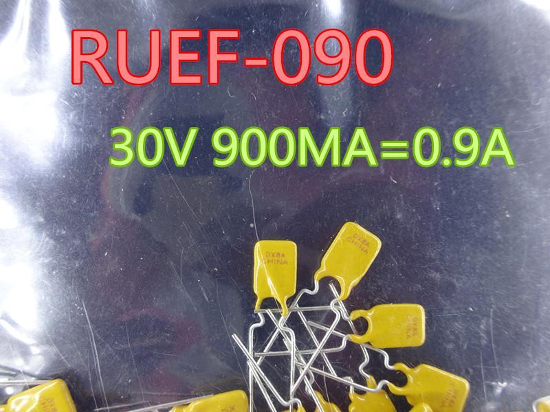 200PCS / lot جديد فيوز RUEF090 30V 900MA = 0.9A في سوق الأسهم شحن مجاني