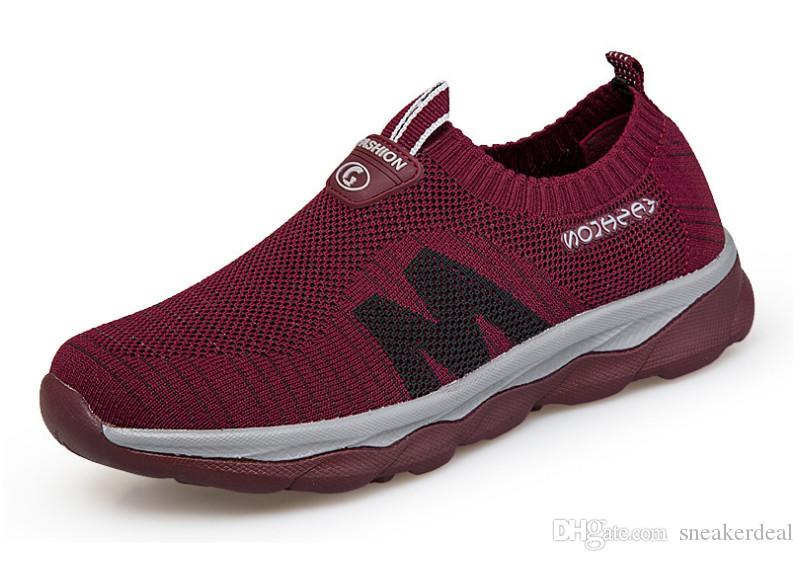 Leichtgewichtler Frauen Turnschuhe schnüren sich oben Vulcanize Schuhe Low Top flache Schuhe Breathable Ineinander greifen Wohnungen Knit Schuhe Schuhe mit Kasten
