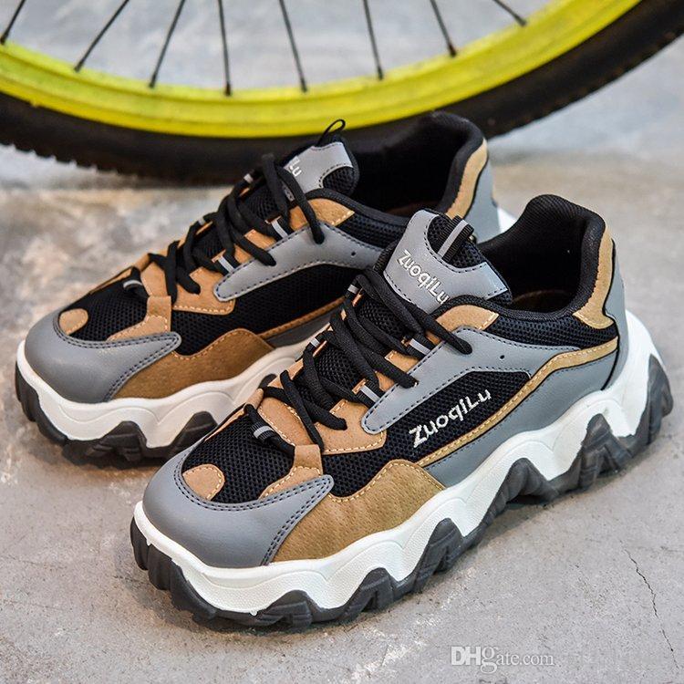 2020 Mens Designer Clunky Schuhe, Hit in Instagram Mode Luxus Frauen der Männer im Freien Clunky Turnschuhe Thick-Sohle, High-Welle-Sohle Schuhe Vati