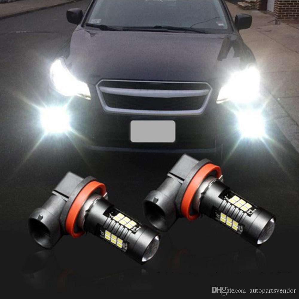 2019 Canbus 4pcs 12V 21W H11 3030 21SMD LED Auto Car Fog Light Bulb 6000K White Light Projector High Power Driving Lamp Signal Fog Lighs