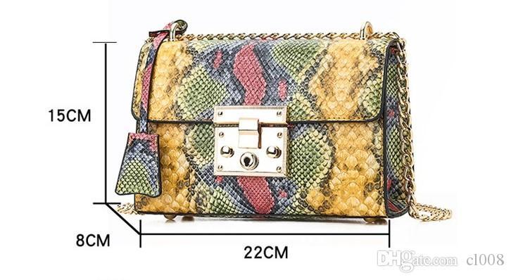Мода креста тело 2020 женщин небольшой лоскут сумки питон зерна искусственная света золото аппаратных большого объема для мобильных косметической продукции