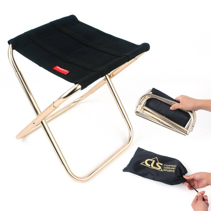 Chaise pliante extérieure 7075 en alliage d'aluminium pêche camping portable tabouret pliant en aluminium Oxford tissu pêche extérieure pliante portable