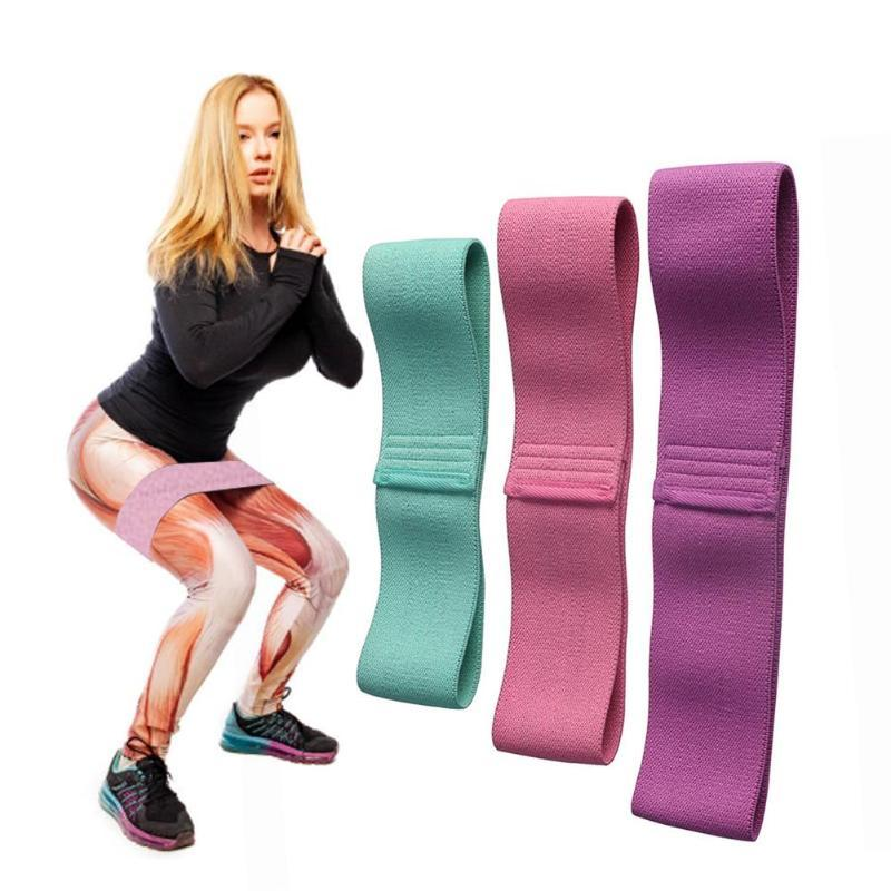 3 pcs Exercit Gym Strength Cotton Yoga Resistance Bands Set Training Anti Slip Rolling Exercise Yoga Bands With Storage Bag