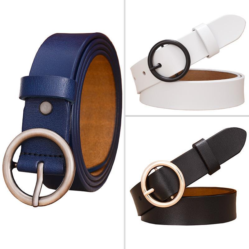 Мода круглого кольцо пряжки ремень женщина из натуральной кожи пояс для женщин Quality коровьей кожи ремешка женского пояса для джинсов ширины 2.8cm Свободной перевозки груза