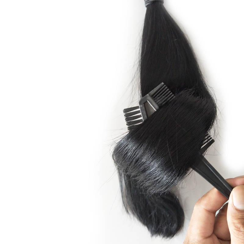 Человеческие бразильские волосы прямые пучки 3шт девственные волосы плетет необработанные дешевые наращивание волос, 100 г штука с натуральным цветом, бесплатная доставка dhl