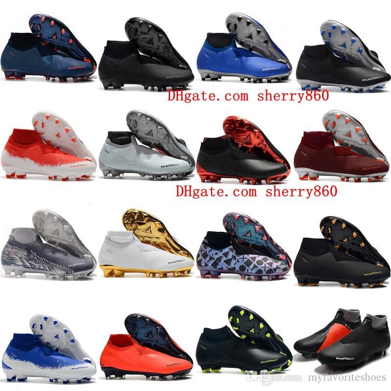2019 new soccer shoes Phantom Vision Elite DF FG soccer cleats mens outdoor football boots x EA Sports Phantom Vision botas de futbol