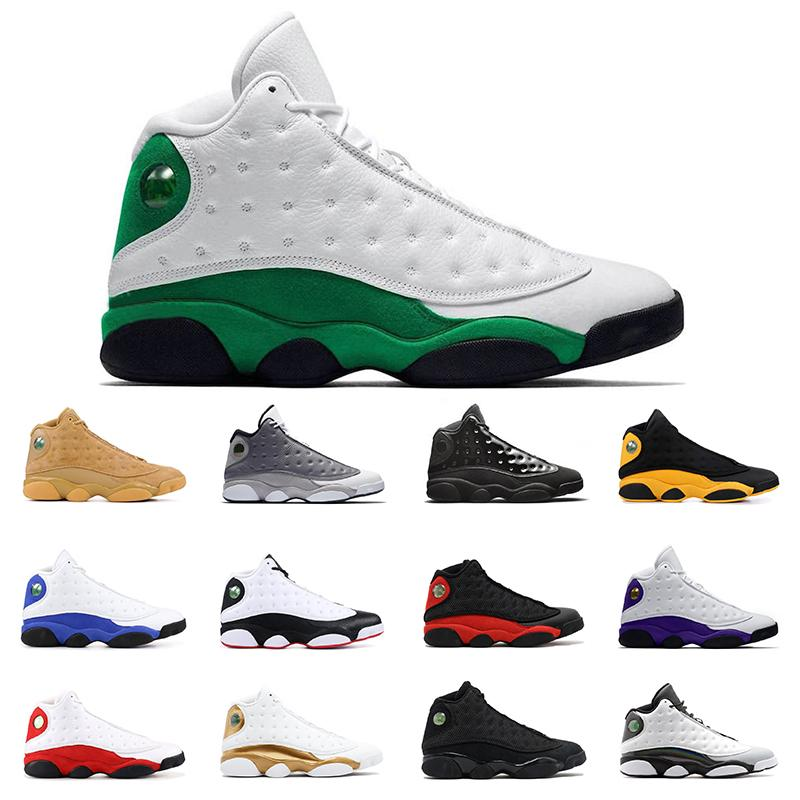 2020 Mens basketball sheos 13 lucky green 13s COURT PURPLE black cat Bred BARONS WHEAT HYPER ROYAL mens sports sneakers trainers size 7-13